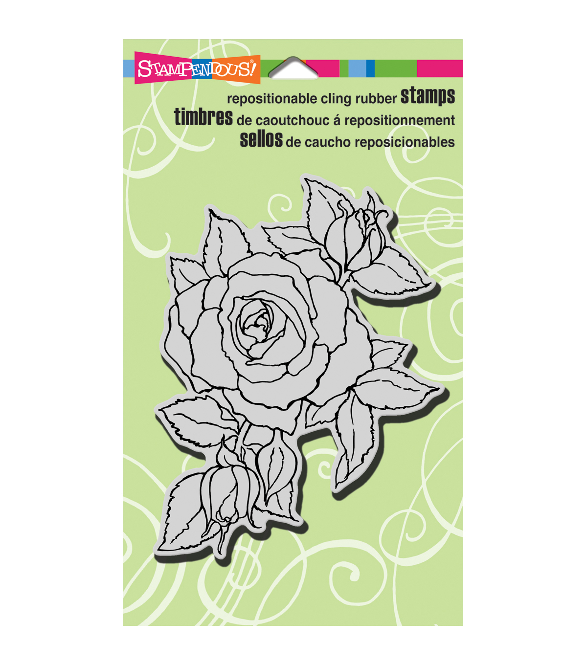 Stampendous Timeless Rose Cling Rubber Stamp Sheet