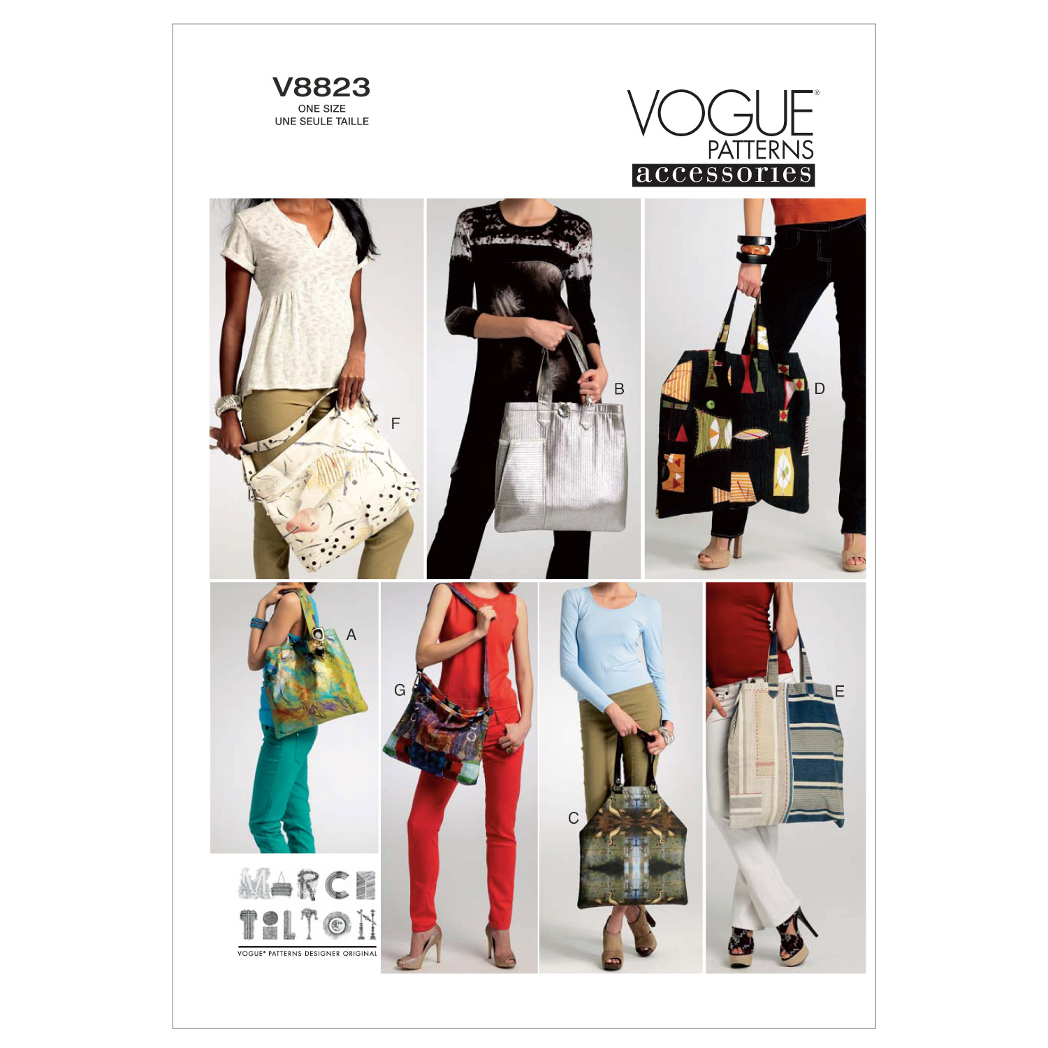 Vogue Patterns Crafts Totes & Bags-V8823