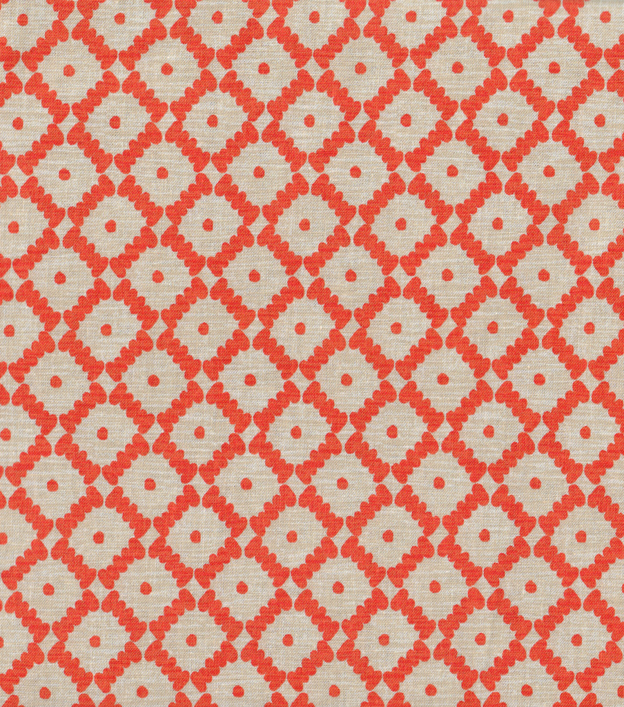 Keepsake Calico™ Cotton Fabric 44\u0022-Abacus Tangerine