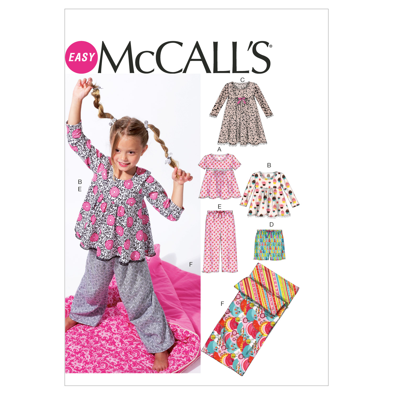 McCall's Girls Sleep & Lounge-M6643