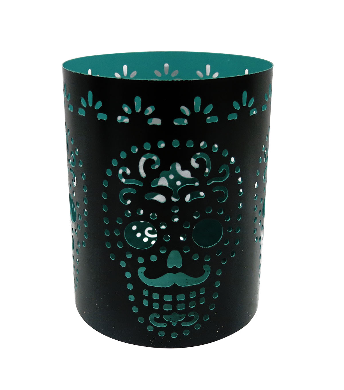 Maker\u0027s Halloween Candle Holder-Teal