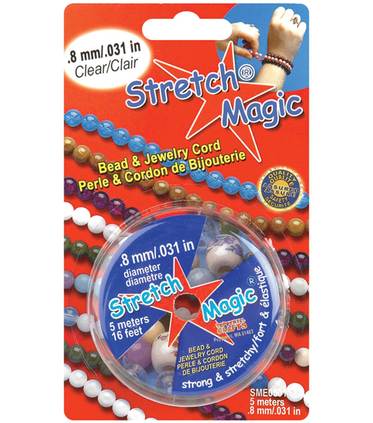 Stretch Magic .8mm Bead & Jewelry Cord-5 Meters