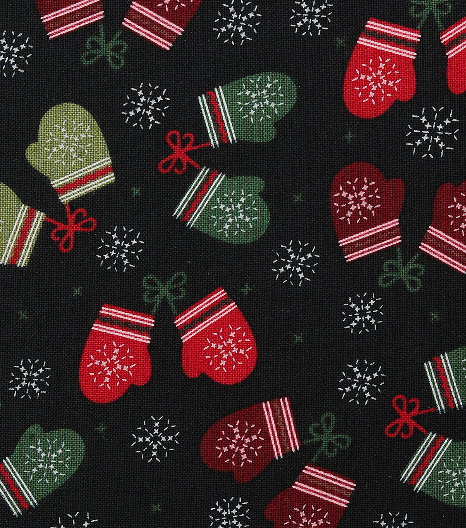"Christmas Cotton Fabric 43""-Stitched Mittens"