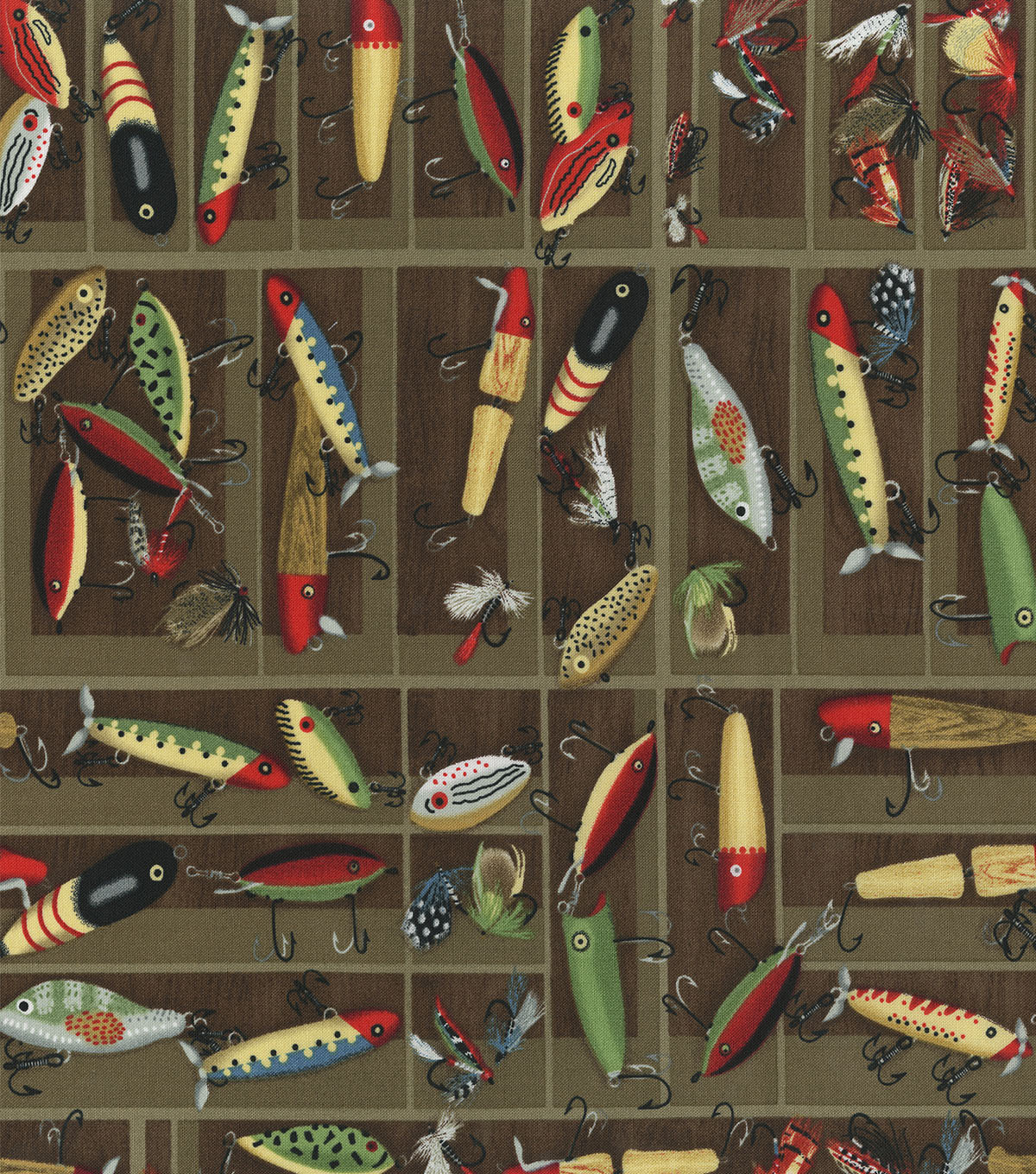 Novelty Cotton Fabric 44\u0027\u0027-Fishing Lures
