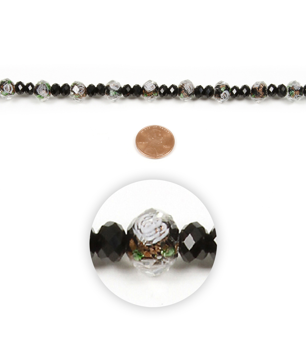 Strand Black And Crystal Glass