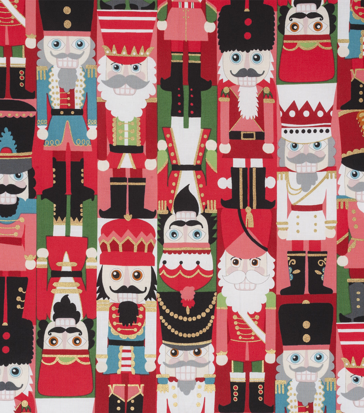 Christmas Cotton Fabric 45\u0022-Nutcracker Metallic