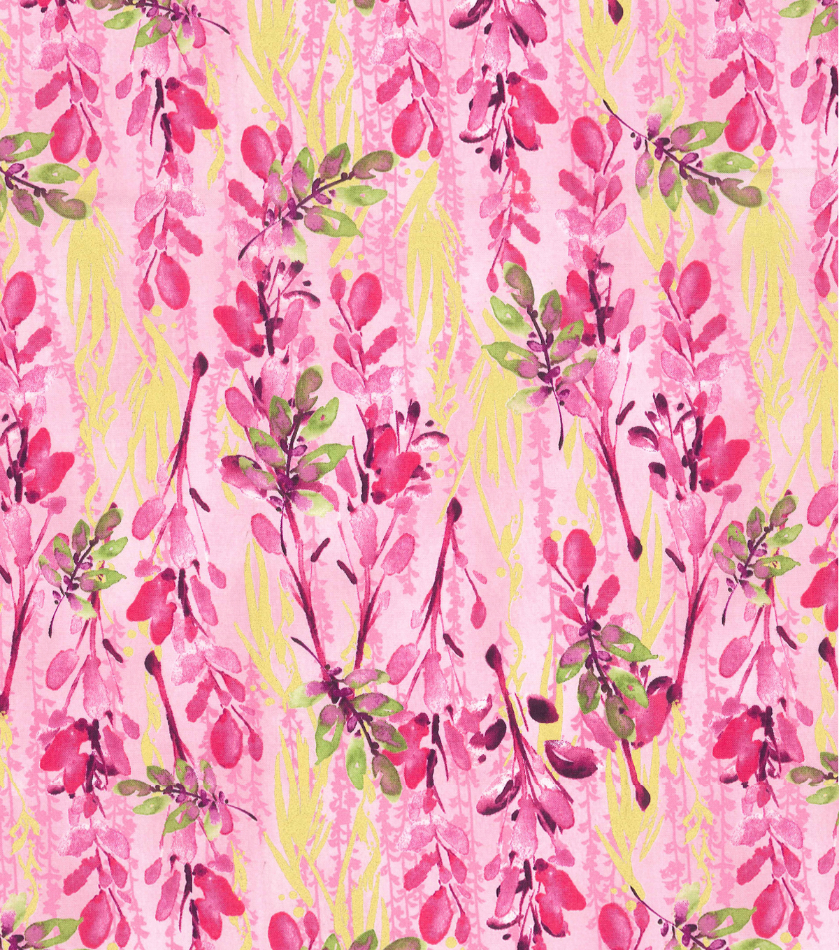 Kathy Davis® Cotton Fabric 44\u0027\u0027-Pink Watercolor Floral