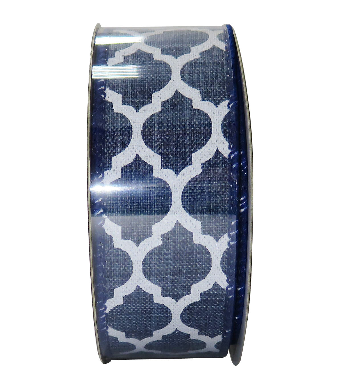 Decorative Ribbon 1.5\u0027\u0027 X 15\u0027-Indigo Geo