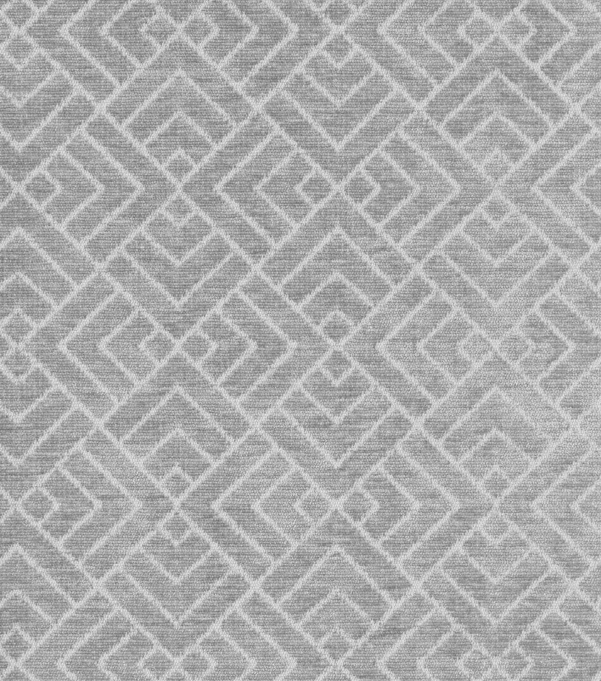 "Home Decor 8""x8"" Swatch Fabric-IMAN Home Tambal Lattice Shale"