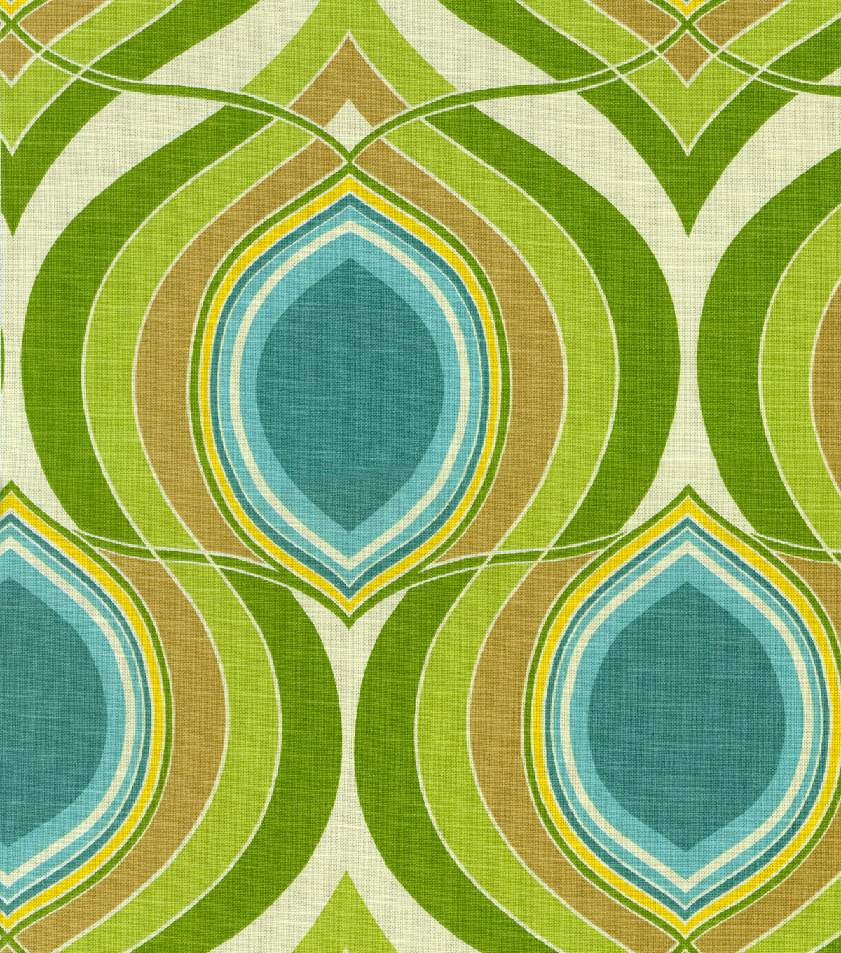 "Home Decor 8""x8"" Fabric Swatch-HGTV Home Groove Move Turquoise"