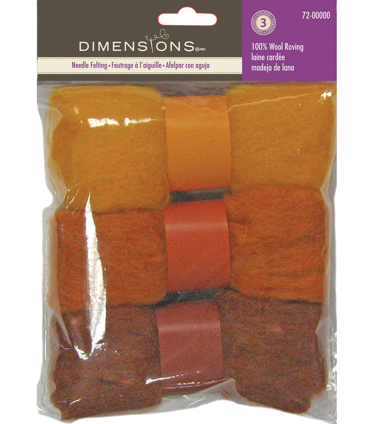 Feltworks Roving Trio Pack 1.58oz-Gold Rust