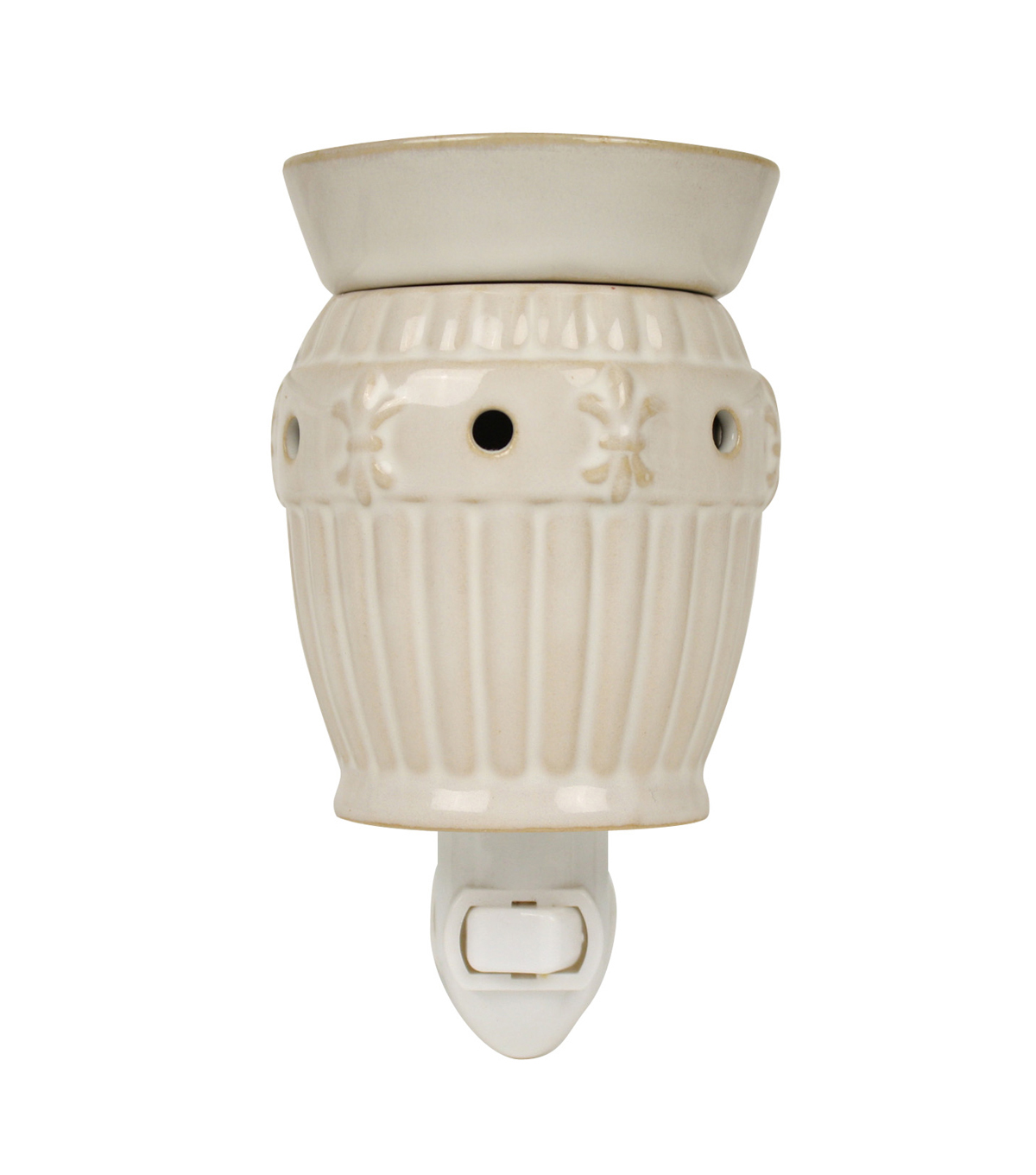 Hudson 43™ Candle & Light Collection White Fleur De Lis Plug In
