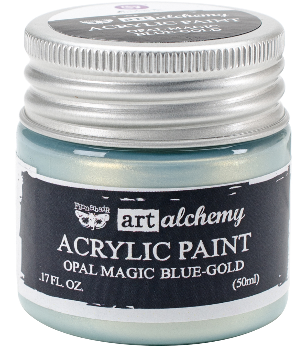 Prima Marketing Art Alchemy 1.7 oz. Acrylic Paint-Opal Magic Blue-Gold