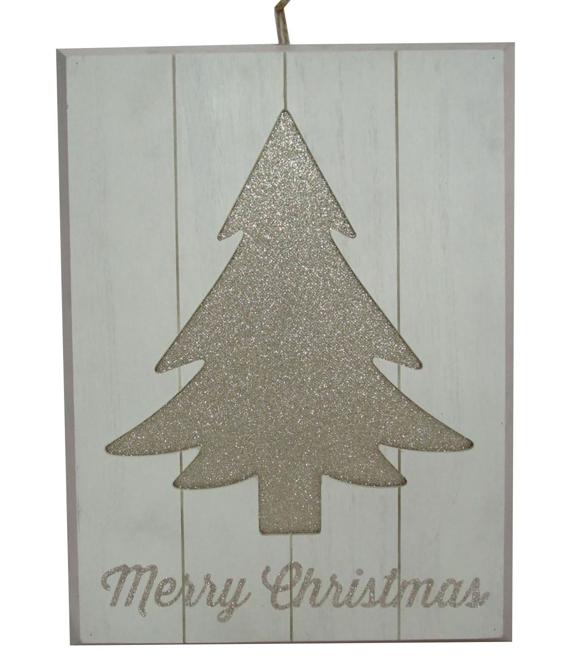 Maker\u0027s Holiday Christmas Wall Decor-Glitter Tree & Merry Christmas