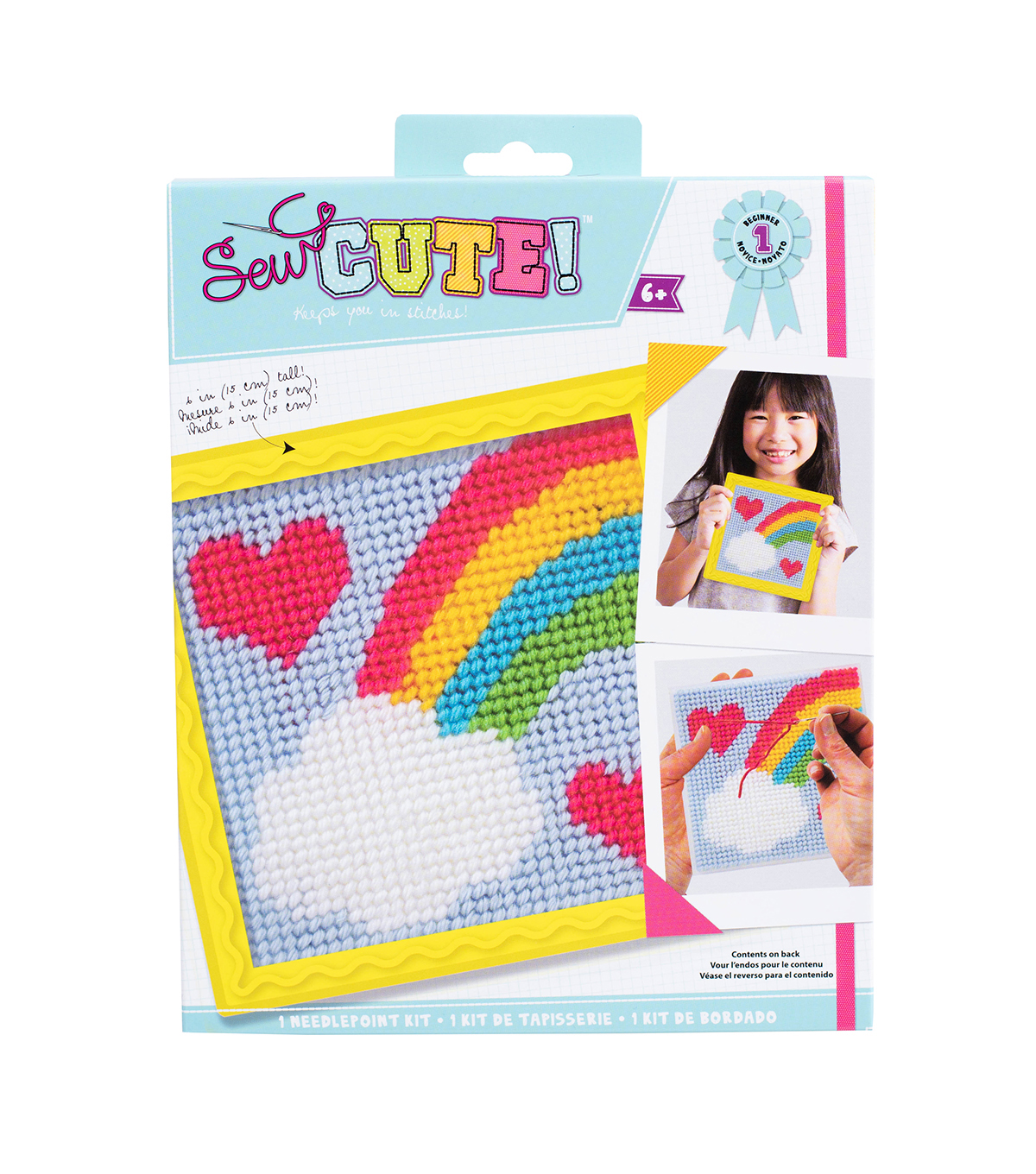 Quincrafts Learn To Sew Needlepoint Kit-Rainbow