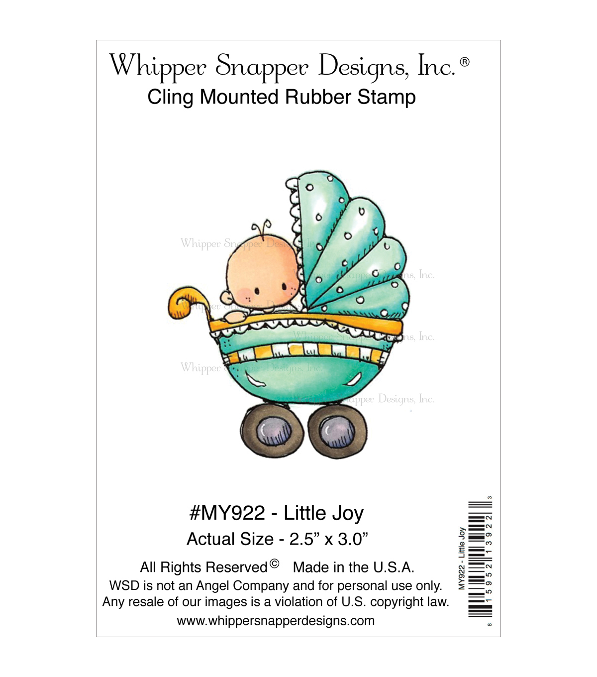 Whipper Snapper Cling Stamps-Little Joy