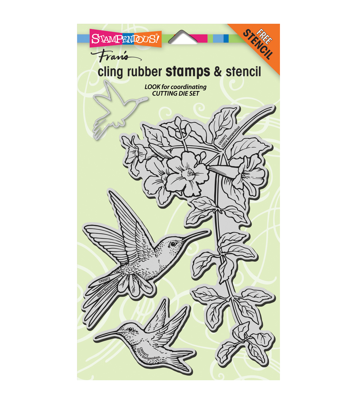 Stampendous Hummingbirds Cling Rubber Stamp 5\u0027\u0027x9\u0027\u0027