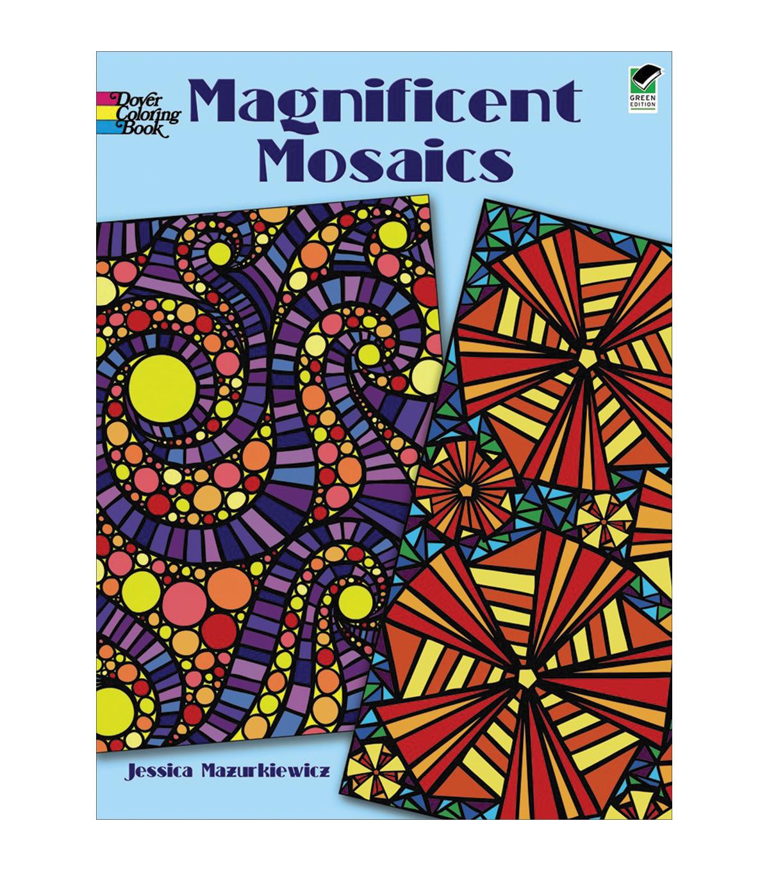Adult Coloring Book Dover Publications Magnificent Mosaics