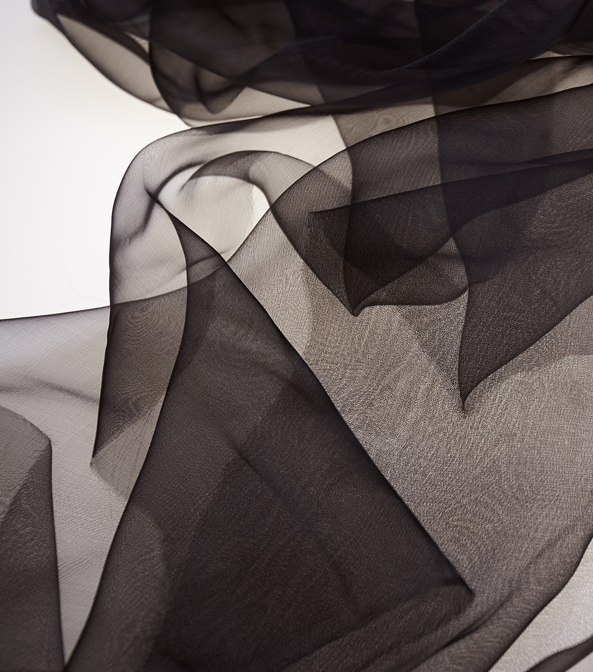 SUEDEsays Fabric-Sheer Ribbon Organza Black