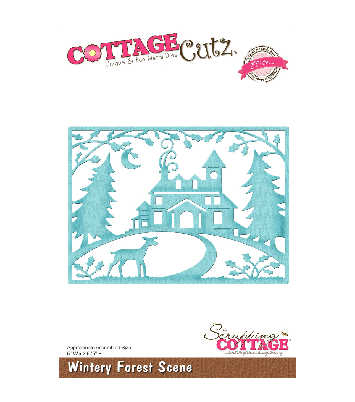 CottageCutz Elites Die-Winter Forest Scene