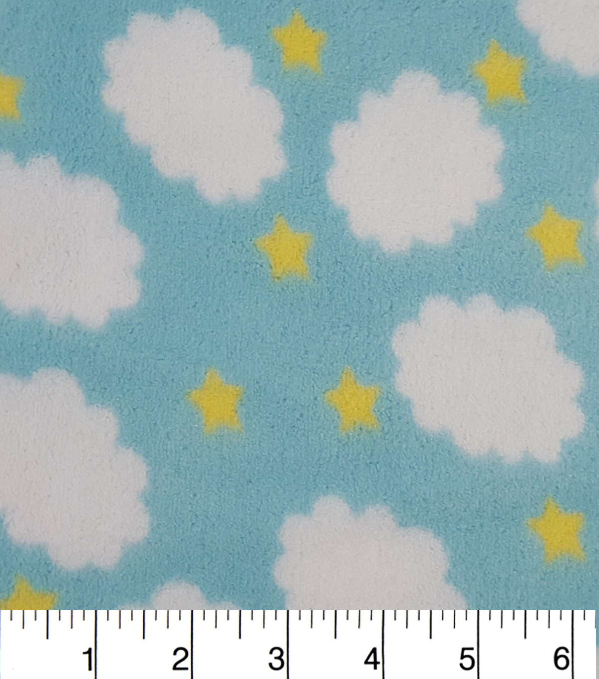 "Ultra Fluffy® Fleece Fabric 57""-Little Clouds"