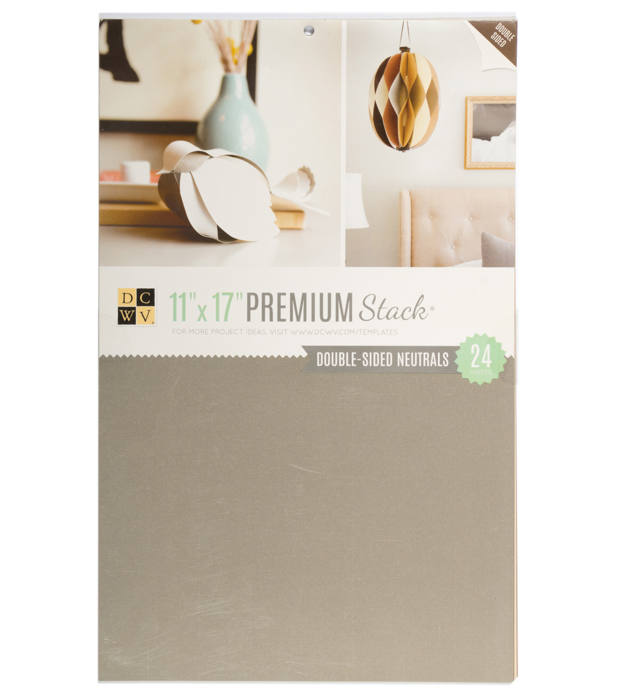 DCWV 11\u0022x17\u0022 Double-sided Cardstock Stack: Neutrals