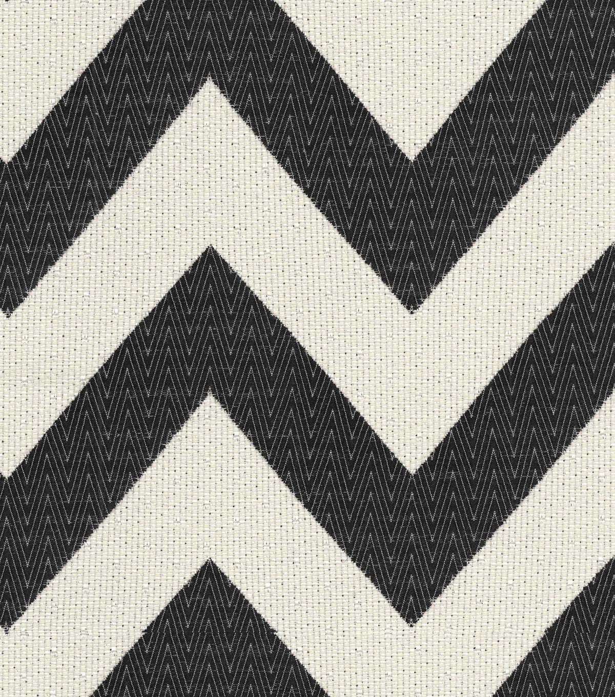 "Home Decor 8""x8"" Fabric Swatch-HGTV HOME Chevron Chic Onyx"