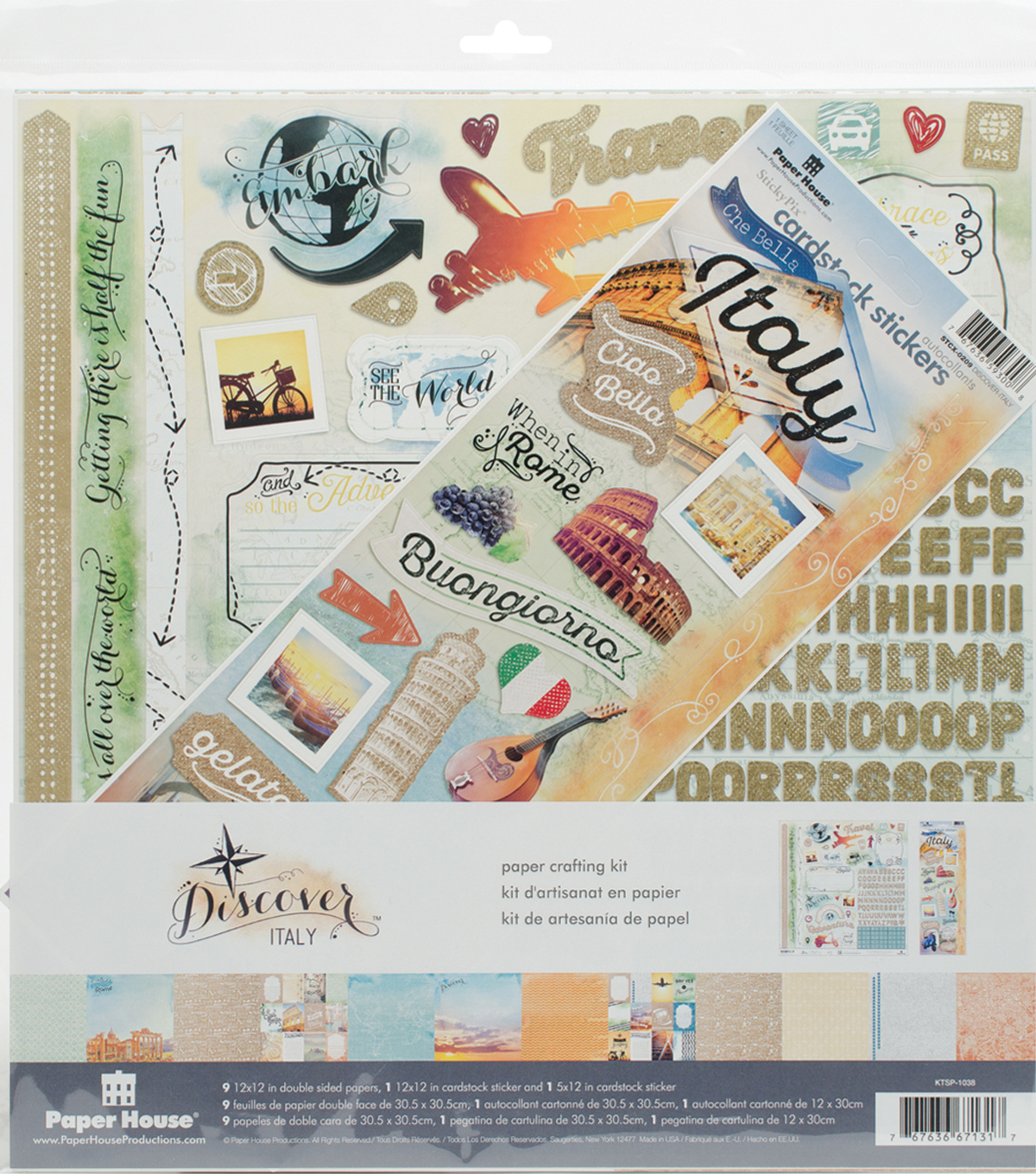 Paper House Paper Crafting Kit 12\u0022X12\u0022-Italy