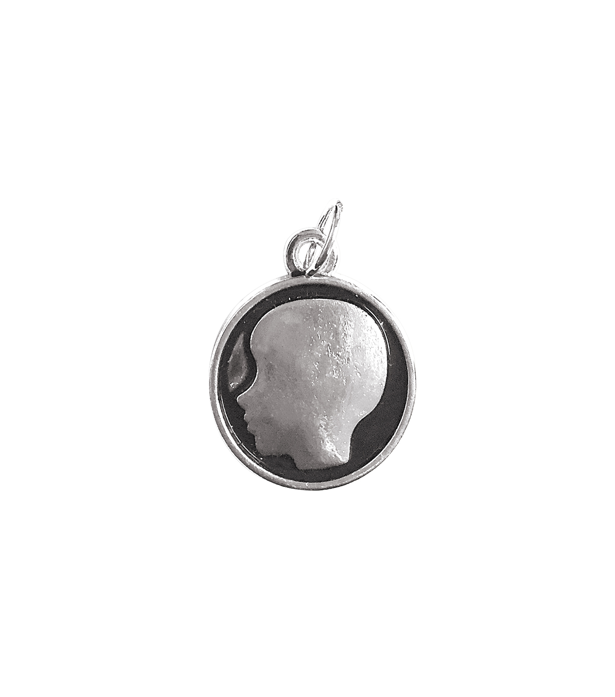 Blue Moon Beads Single Charm Silhouette Boy Silver