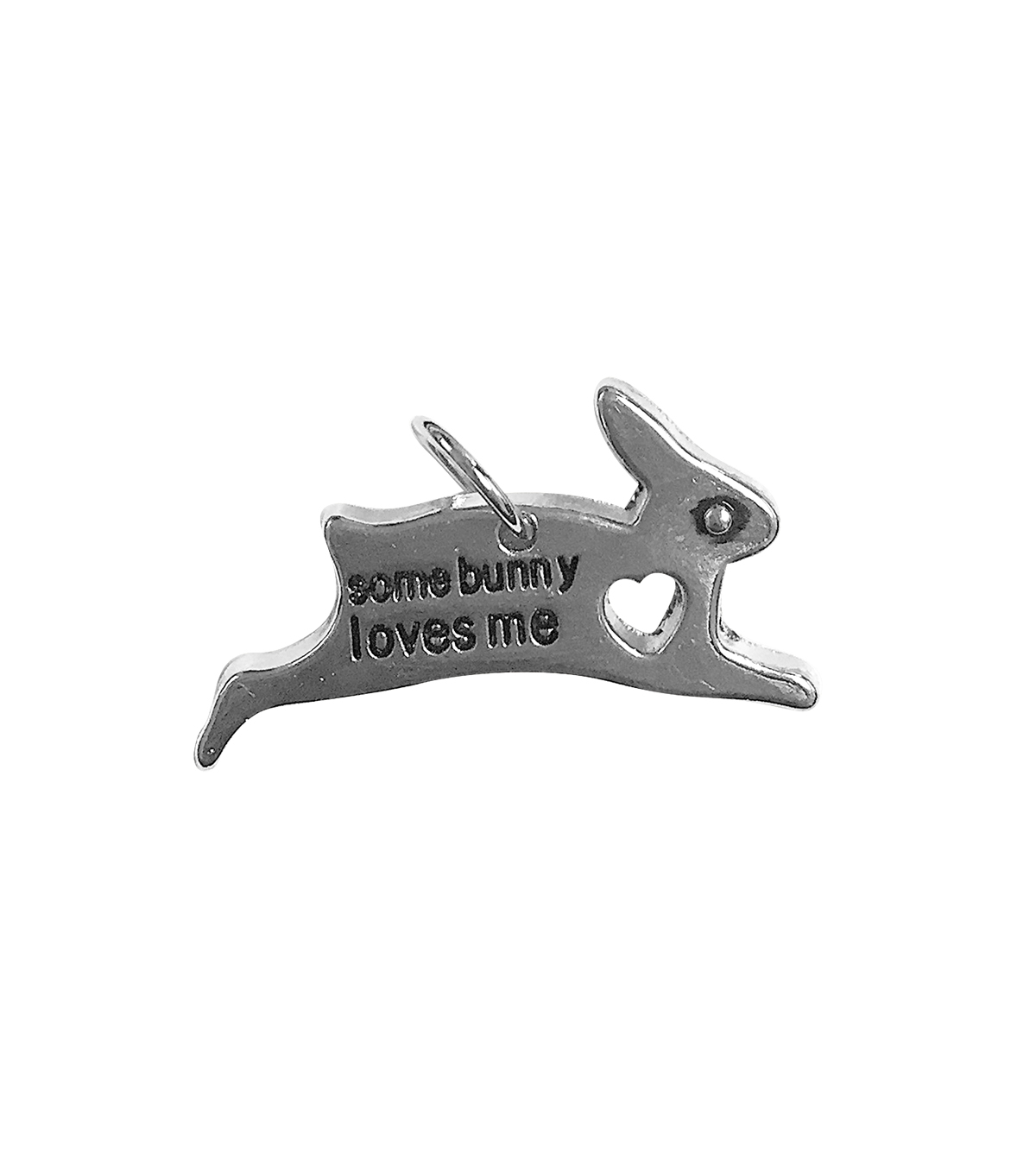 Blue Moon Beads Single Charm Some bunny loves me Silver