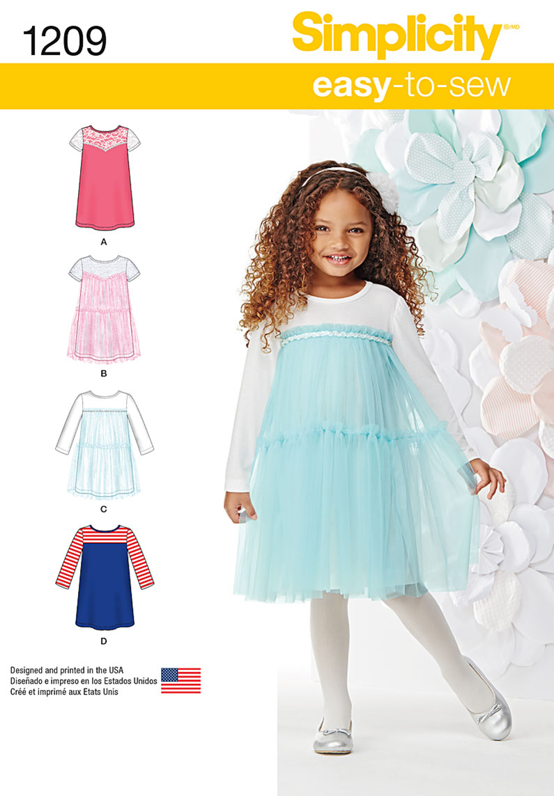 Simplicity Pattern 1209A 3-4-5-6-7--Children