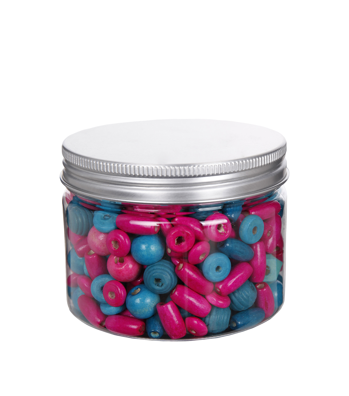 hildie & jo™ Assorted Fashion Beads in Plastic Jar-Blue & Pink