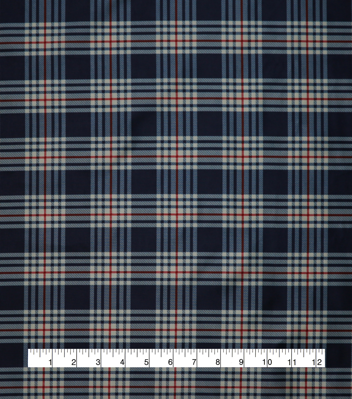 Anti-Static Lining Fabric 58\u0022-Navy Plaid