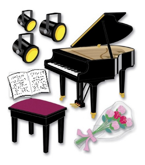 Jolee's Boutique Themed Ornate Stickers-Piano Recital