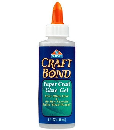 Elmers Craft Bond Paper Craft Glue Gel