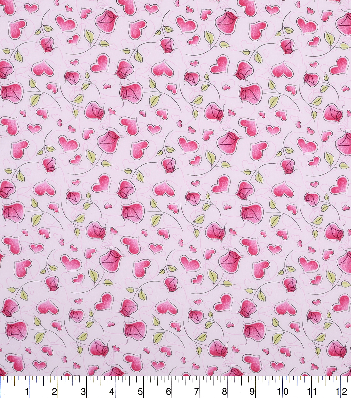 valentineu0027s day print fabric 44u0027u0027 pink with