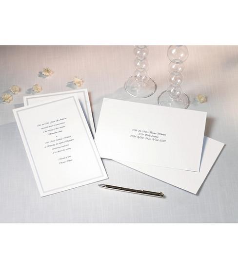 Wilton 100ct Single Border Invitation Kit White