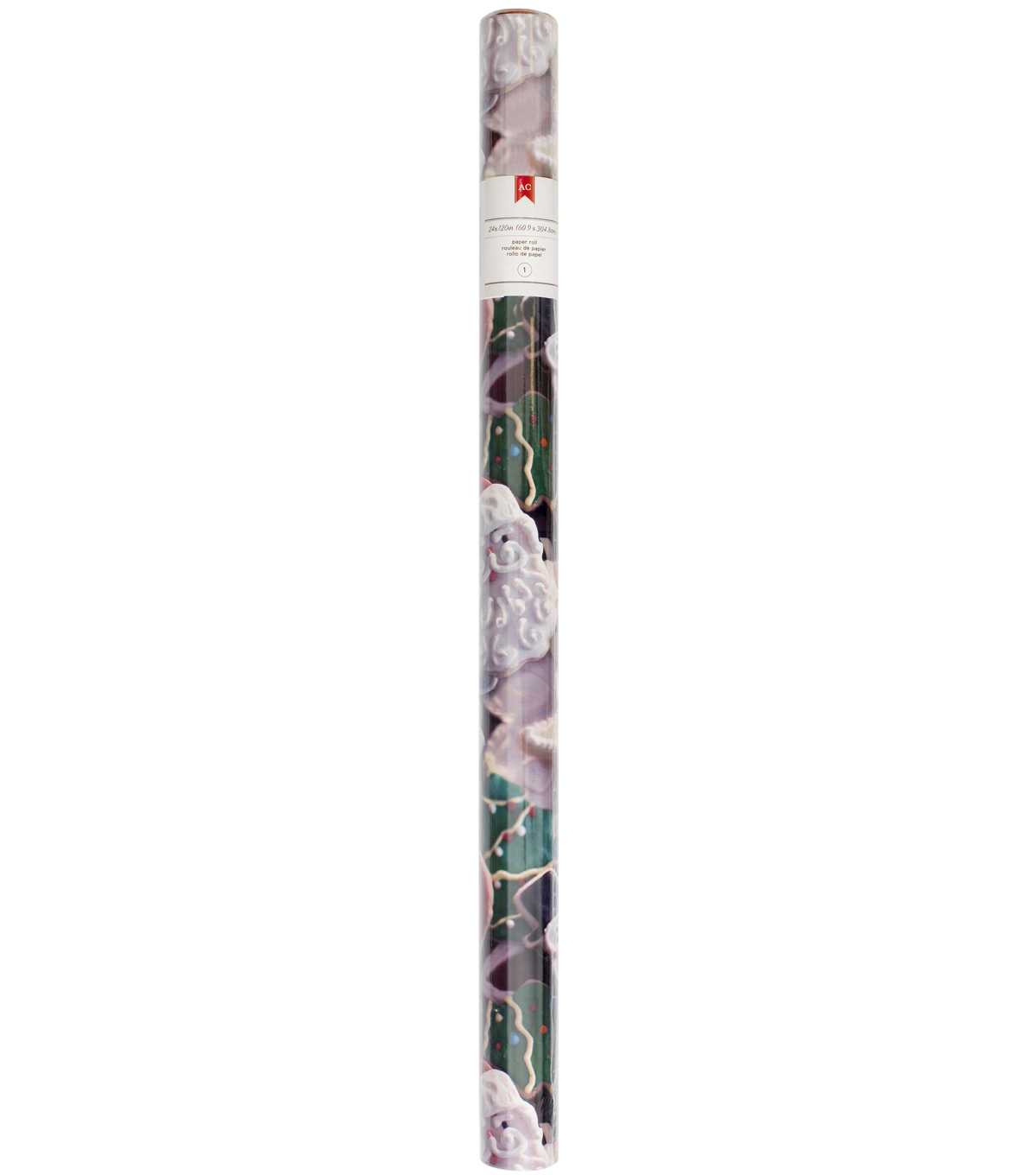 American Crafts 24x120 inch Christmas Paper Roll-Cookies