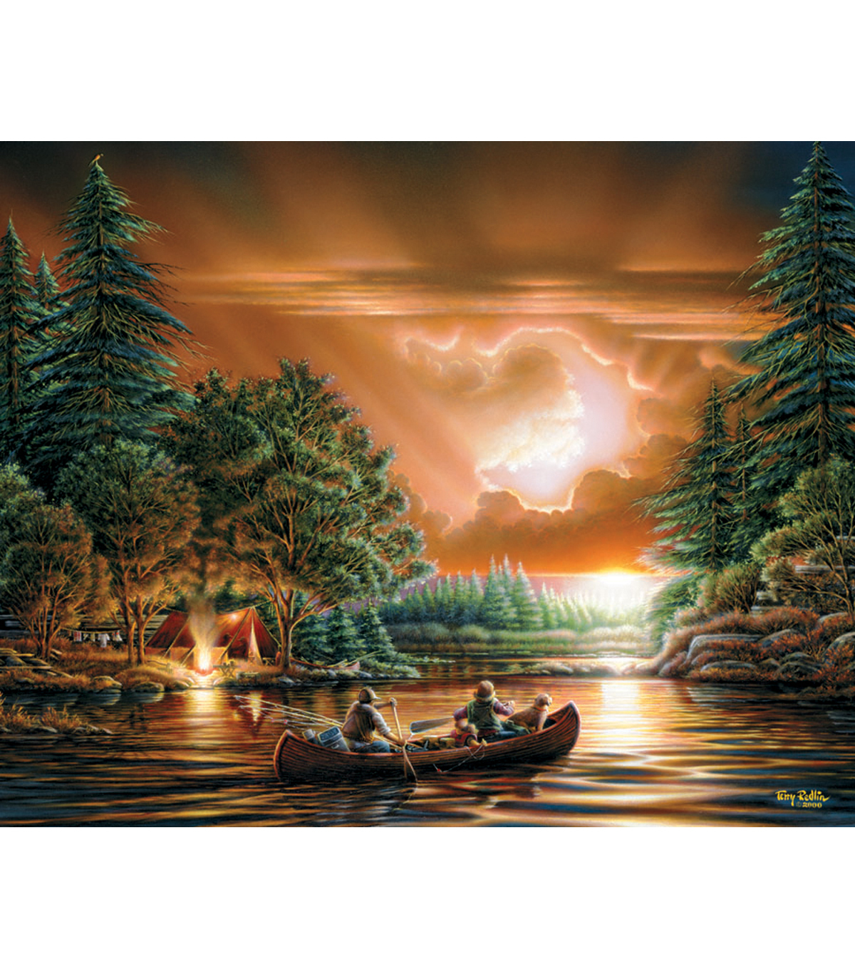White Mountain 1000 piece Jigsaw Puzzle Terry Redlin-Evening Rendezvous