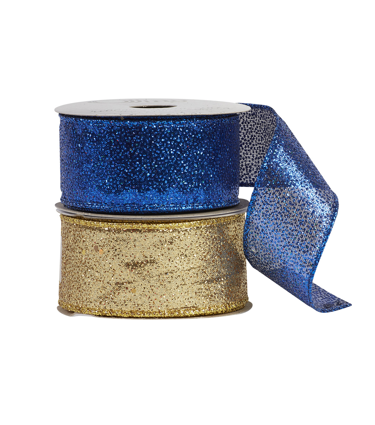 "Offray 1.5""x9' Glitterie Metallic Accent Wired Edge Ribbon"