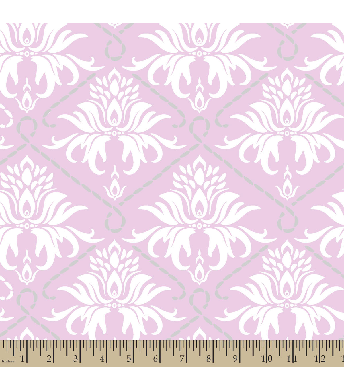Nursery Cotton Fabric 59\u0022-Damask
