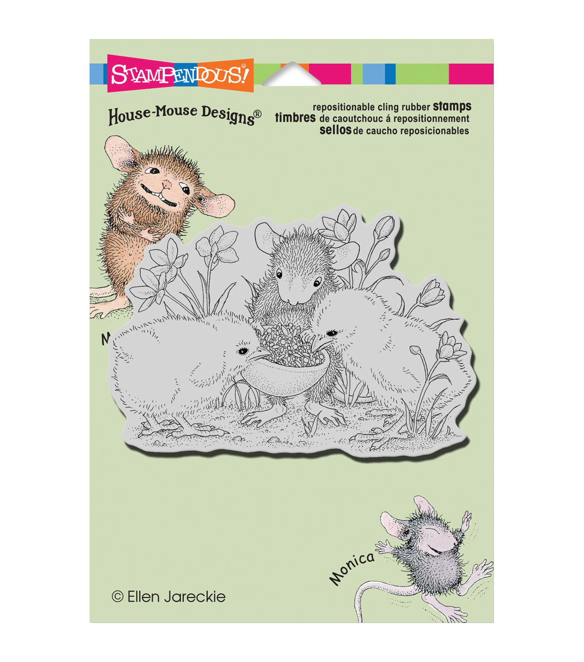 Stampendous House Mouse Sharing Seed Cling Rubber Stamp