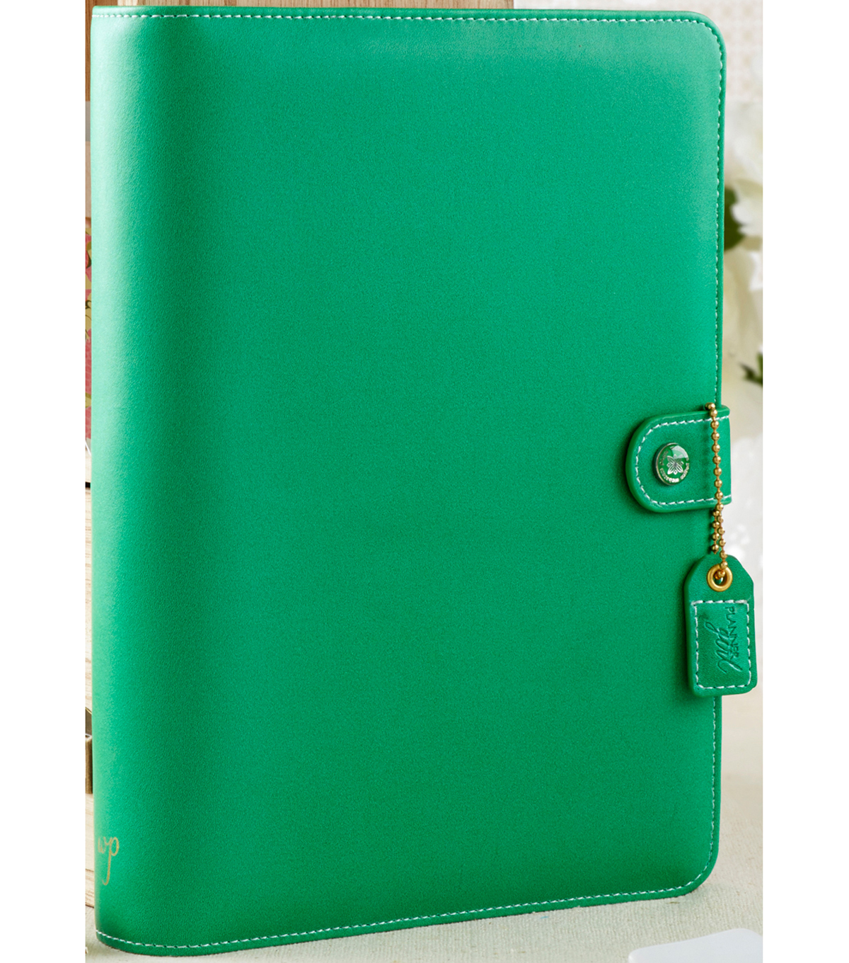 "A5 Faux Leather 6-Ring Planner Binder 7.5""X10""-Summer Green"
