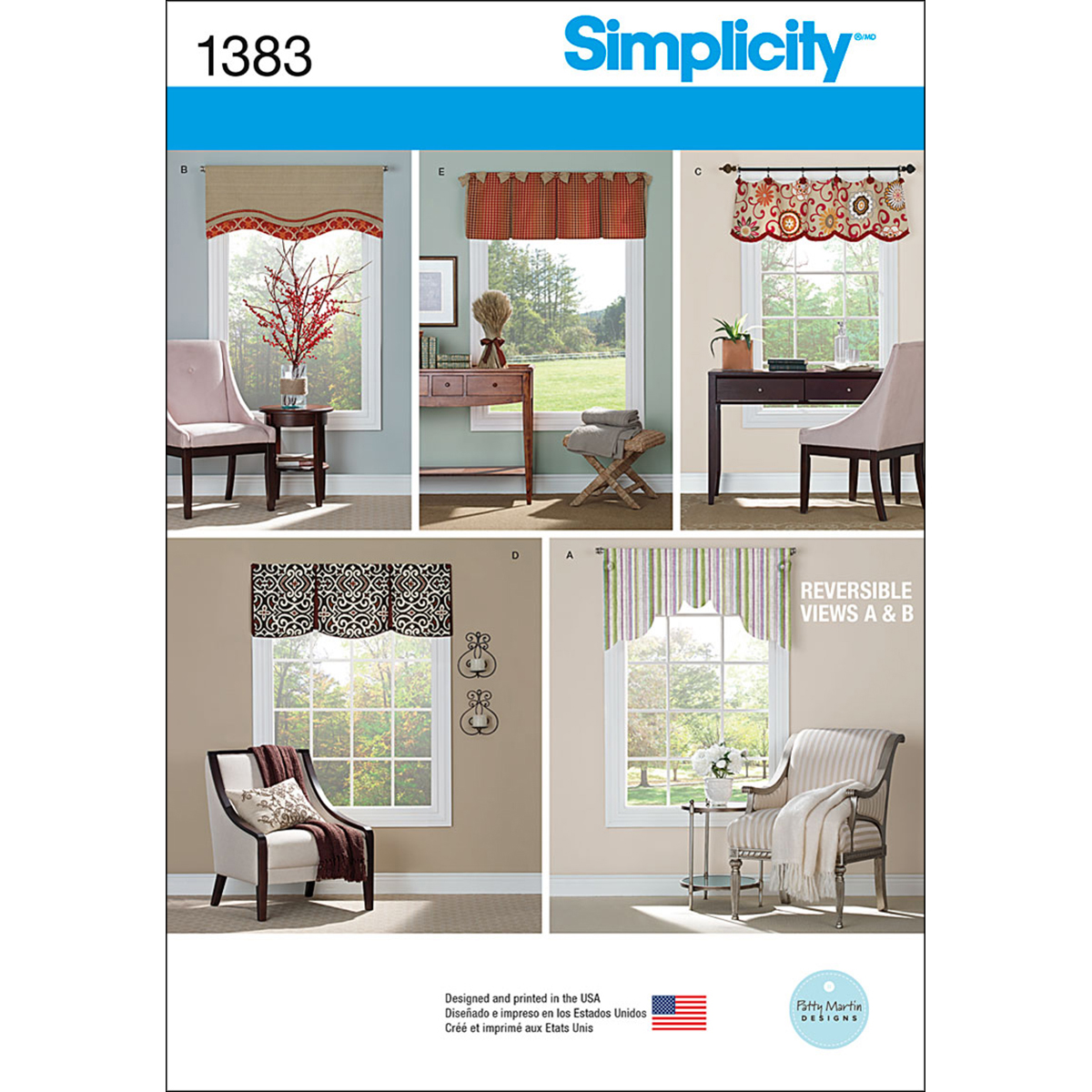 Simplicity Pattern 1383OS One Size -Crafts Home Dcor