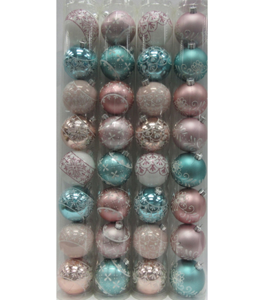 Maker's Holiday Christmas 8ct 60mm Ornaments in Tube-Fantastic Assorted