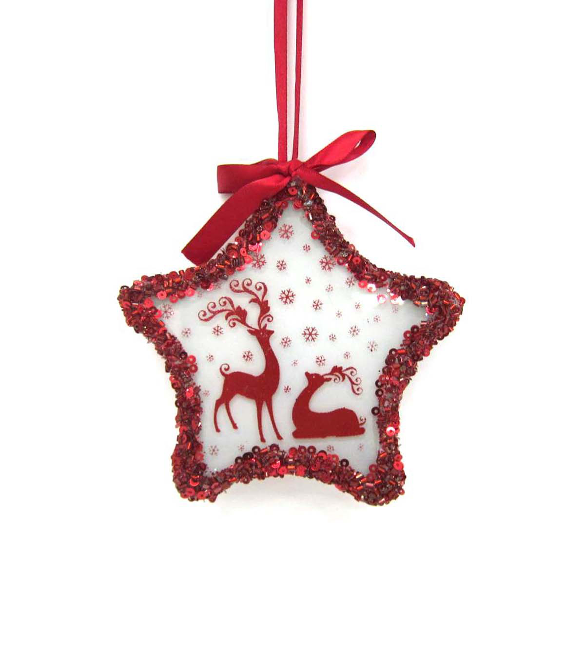 Maker\u0027s Holiday Reindeer Star LED Ornament