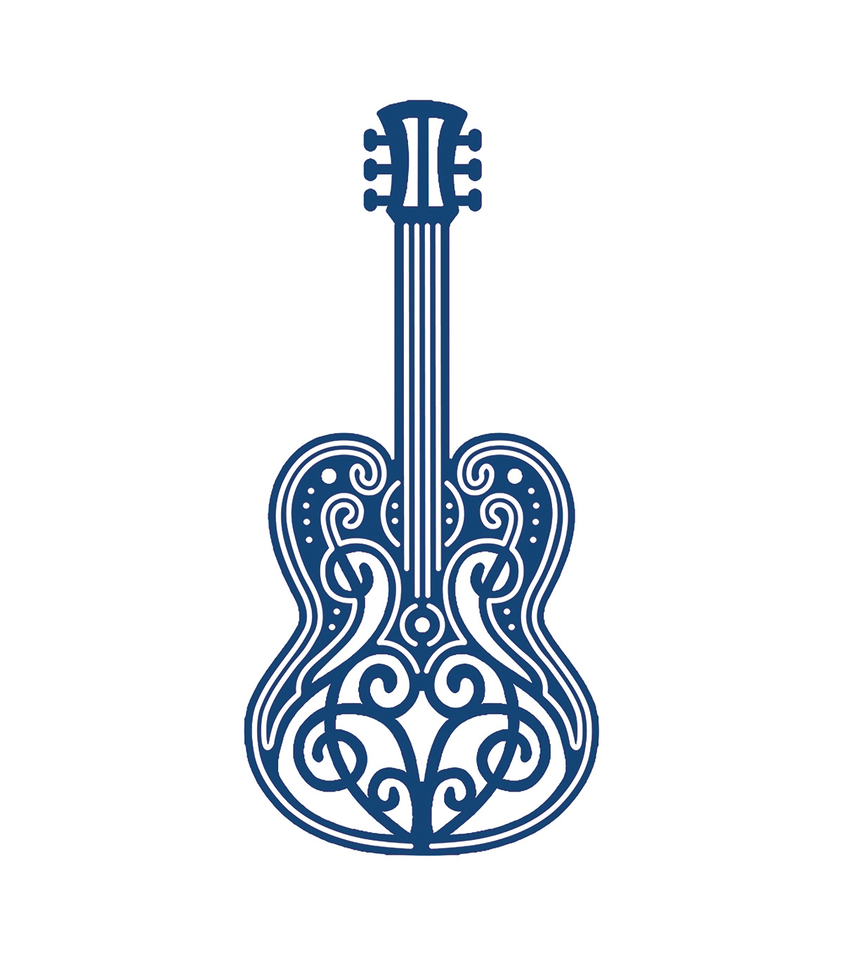 Tattered Lace Metal Die-Guitar