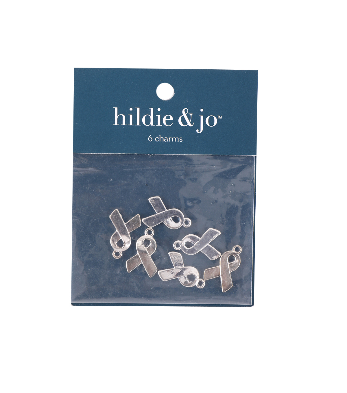 Brass Ribbon Shaped Charms, 20 x 13mm, Silver Plated, 6pcs/pkg