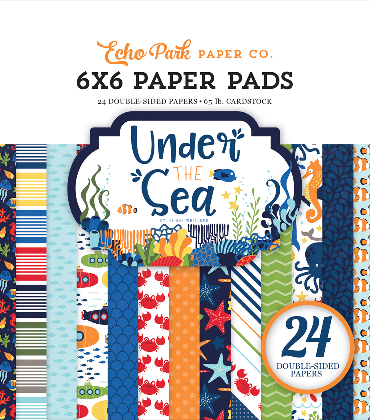 "Double-Sided Paper Pad 6""X6""-Under The Sea"