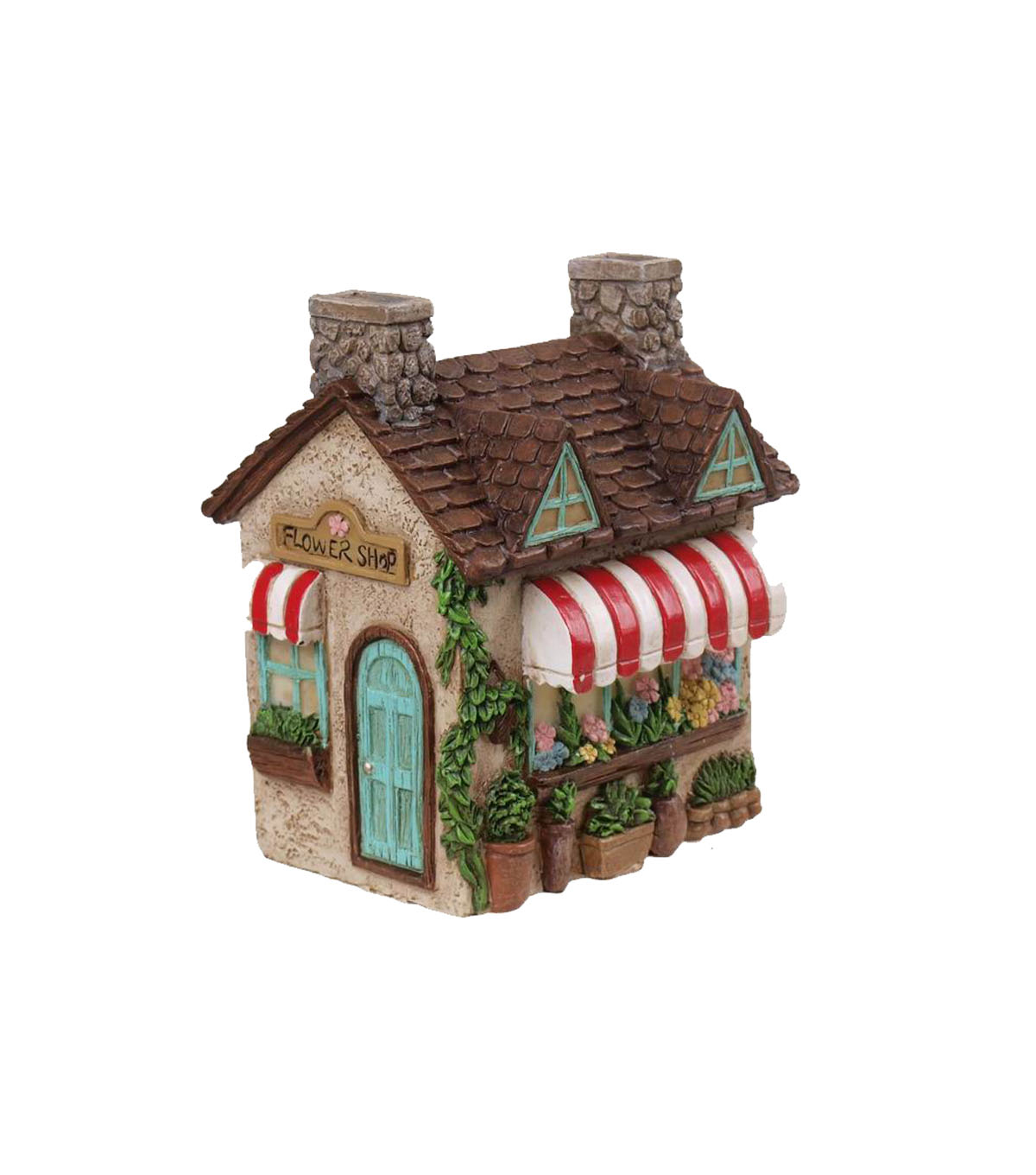 Bloom Room Littles Resin Store House With Blue Door